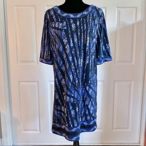 BCBGMaxAzria Blue Stretch Tunic Shift Dress